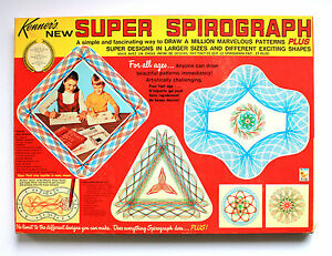 1969 Super Spirograph COMPLETE with Red Tray and Square and Booklets 2400 #2400