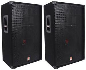 2-Rockville-RSG15-15-3-Way-1500-Watt-8-Ohm-Passive-DJ-Pro-Audio-PA-Speaker