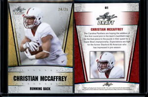 CHRISTIAN-MCCAFFREY-2017-Leaf-Gold-Draft-Rookies-SN-24-25-CAROLINA-PANTHERS