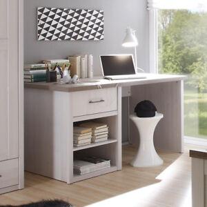 Schreibtisch luca jugendzimmer b rotisch pinie wei for Jugendzimmer schreibtisch