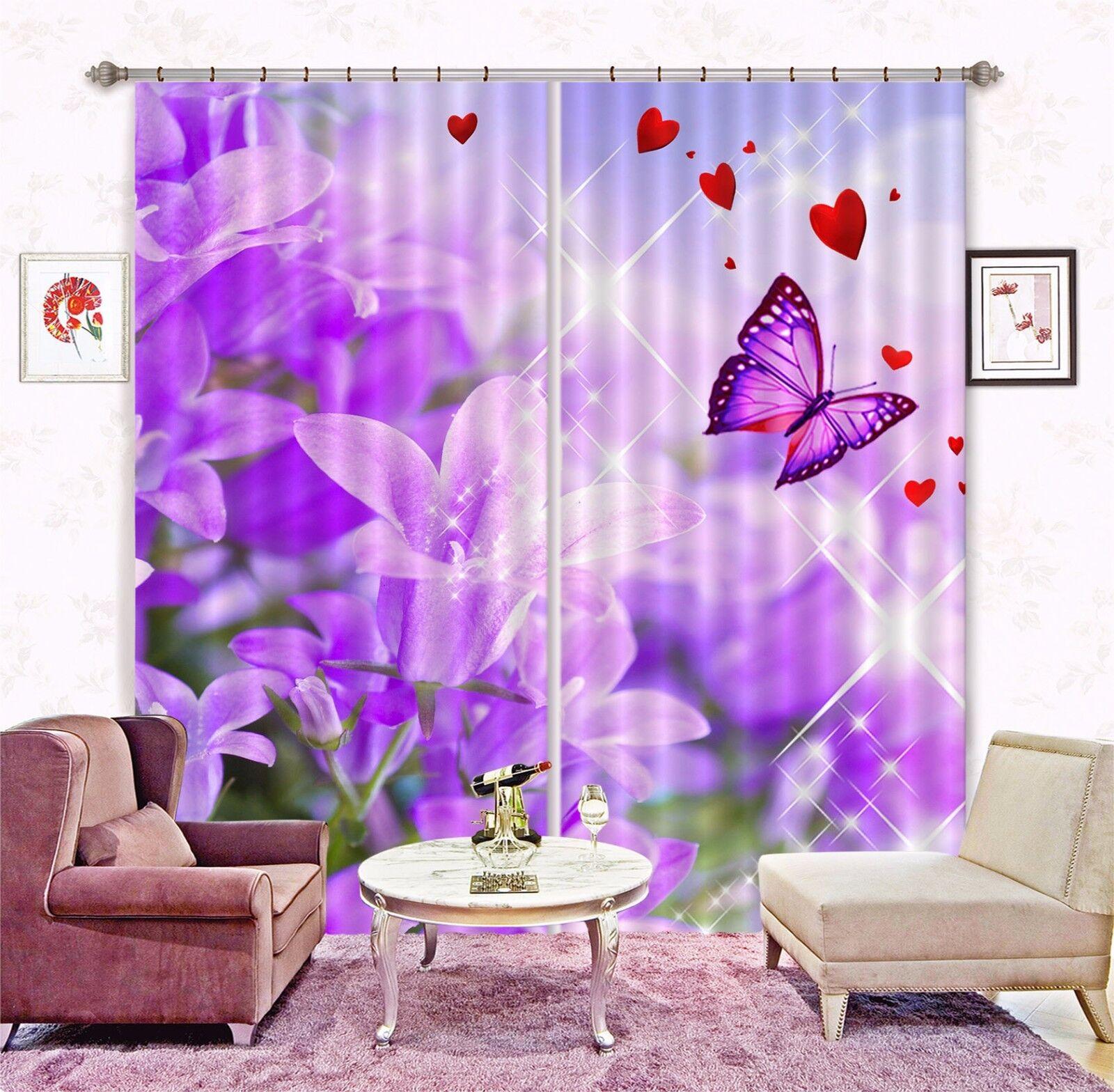 3D Cortina de fantasía Bloom 5 Blockout Foto Impresión Cortinas Cortinas Ventana De Tela Reino Unido