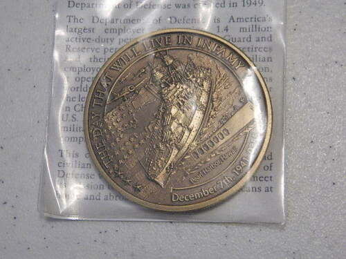 2 INCHES Northwest Territorial Mint DAYS OF INFAMY  Uncirculated Medal 50mm