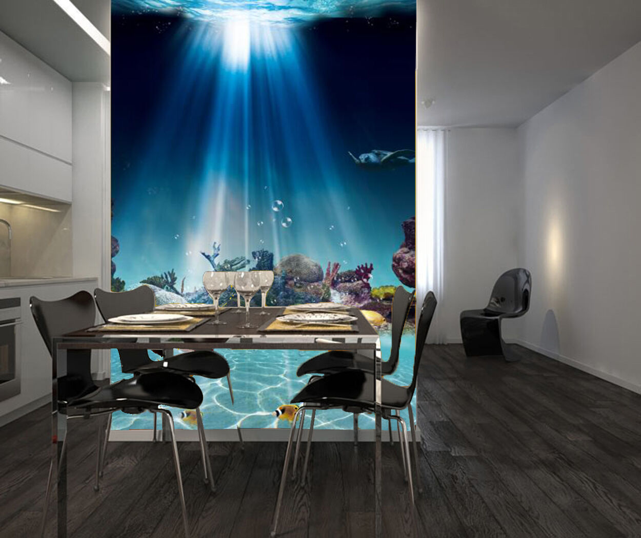 3D Sonne, Meeresboden Fototapeten Wandbild Fototapete Bild Tapete Familie Kinder  | Bestellungen Sind Willkommen  | Schenken Sie Ihrem Kind eine glückliche Kindheit  | Zürich Online Shop