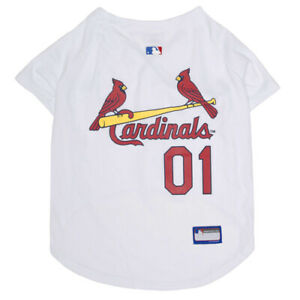 St-Louis-Cardinals-MLB-Pets-First-Officially-Licensed-Dog-Jersey-White-XS-XXL