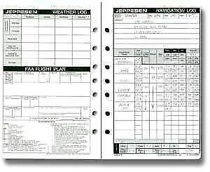 Details about Jeppesen Airway Manual Navigation Log / Flight Plan Form -  10011877