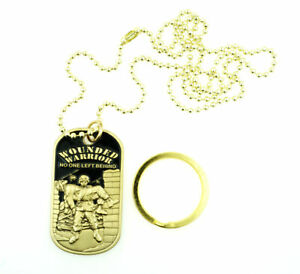Wounded-Warrior-US-Army-Military-Brass-Plate-Dog-Tag-Necklace-Keychain