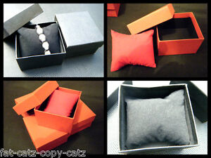 Details About 1 5 10 Black Red Watch Bracelet Jewellery Necklace Gift Boxes Padded Insert Uk