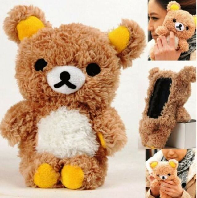 Cute 3D Teddy Bear Cool Plush Toy Doll Cover Case For iphone 5 SE 6 6S 7 Plus
