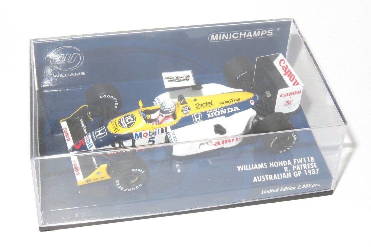 WILLIAMS HONDA FW11B AUSTRALIAN GP 1987 R. PATRESE ha