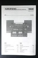 GRUNDIG CC 200 Original Stereo System Service-Manual/Schaltplan/Diagram