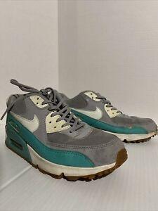 cafetería Charles Keasing Popular  Nike Air Max 90 Premium-Para Mujer-Talla 9.5 - Plata Azul Verde Correr |  eBay