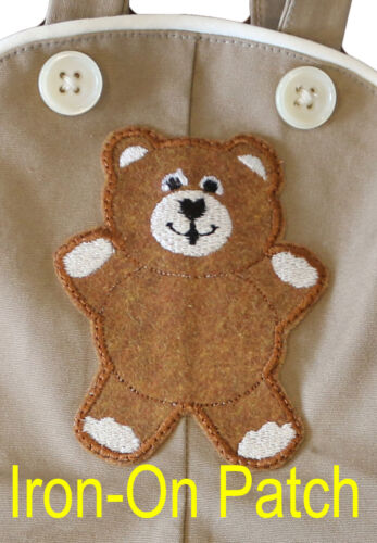 Teddy Iron on Applique so you can make your own overalls for cabbage patch kids