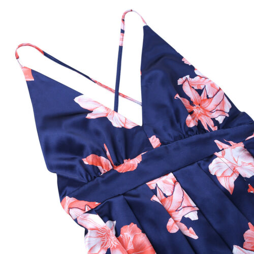 Women Floral Dress Lady Maxi Party Evening Casual Summer Beach Holiday Sundress