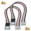 2x-4S-5Pin-Balancerkabel-Verlaengerung-JST-XH-XH-20cm-Lipo-Akku-Kabel-Batterie-RC Indexbild 1