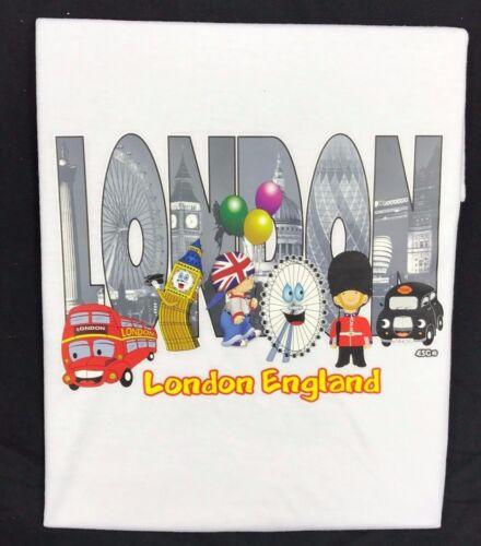 Kids Children/'s London England Scenes 100/% Cotton T-Shirt 3-14 Years