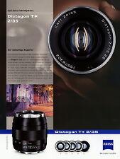 Prospekt Datenblatt Zeiss Kamera Objektiv Distagon T 2/35 2010 brochure lens