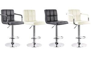 2er set barhocker tresenhocker kunstleder barstuhl mit lehne k chenhocker 453 ebay. Black Bedroom Furniture Sets. Home Design Ideas