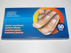 Boite-Lot-x50-Assortiment-Pansement-Adhesif-Permeable-a-l-039-air-Sticking-Plaster