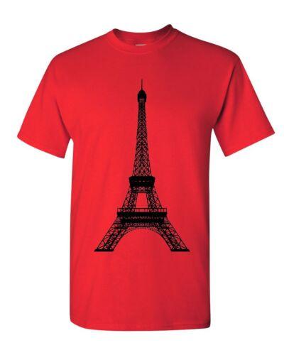 Eiffel Tower T-Shirt Paris France Sightseeing Travel Europe Mens Tee Shirt