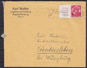 DR-W45-EF-Brief-Aschaffenburg-Guentersleben-1933-Zusammendruck