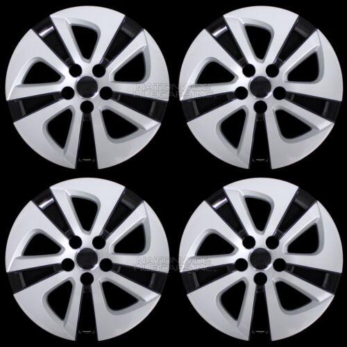 4 Silver & Black 2016-2018 Toyota Prius 15 Wheel Covers Hub Caps Full Rim Skins