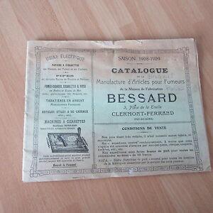 Rara Catalogue 1908 Pipe Tabatierres Articoli Per Fumatori Bessard Clermont