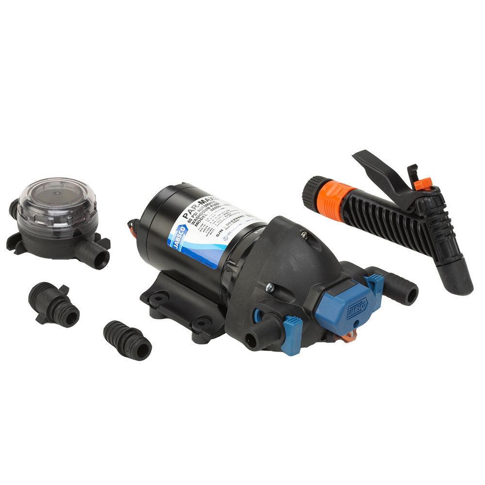 Jabsco Par-Max Lavable Bomba Kit - 4.0GPM-60psi-12VDC - Incluye Colador