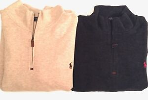 125-POLO-RALPH-LAUREN-FRENCH-RIB-PULLOVER-SWEATER-BIG-amp-TALL-BLACK-amp-BEIGE