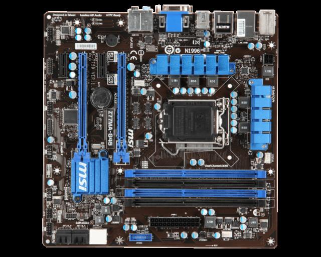 MSI Z77MA-G45 LGA 1155 Intel Z77 HDMI SATA 6Gb/s USB 3.0 Micro ATX Motherboard