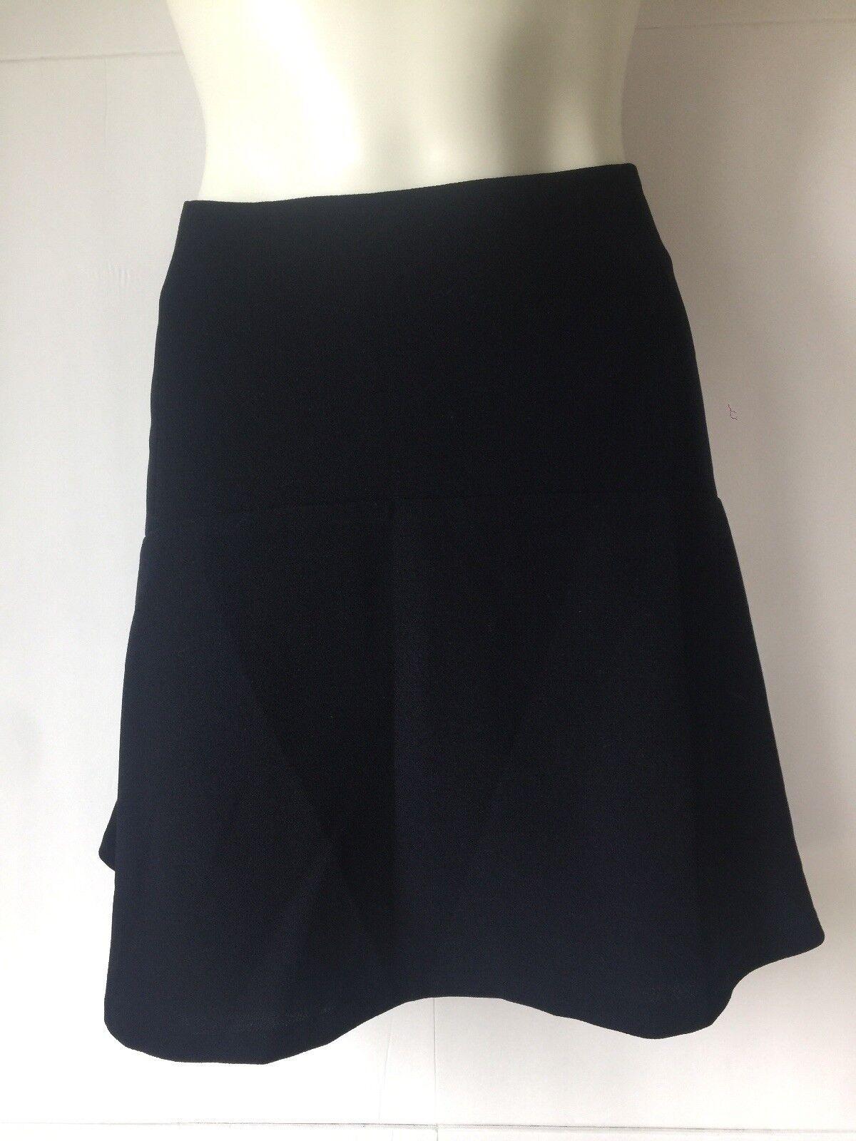 Vince Camuto Women Flounce Mini Skirt Navy bluee size 14