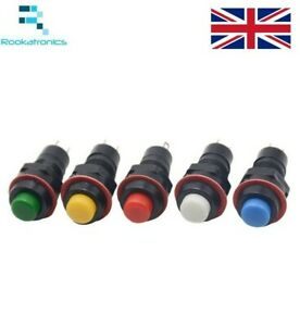 10mm-Round-Push-Button-Momentary-Self-Reset-Switch-White-Red-Green-Blue-Yellow