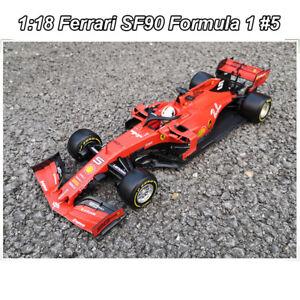 IN-STOCK-Bburago-1-18-Ferrari-SF90-Formula-1-5-S-Vettel-Racing-Car-DIECASTMODEL