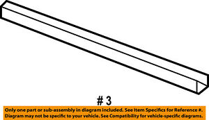 Front-Door-Window-Sweep-Belt-Molding-Weatherstrip-Right-55277030AD