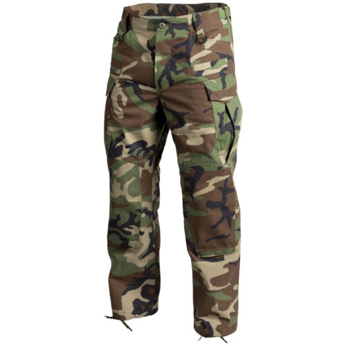 Helikon SFU NEXT Army Combat Trousers Mens Cadet Tactical Pants US Woodland Camo