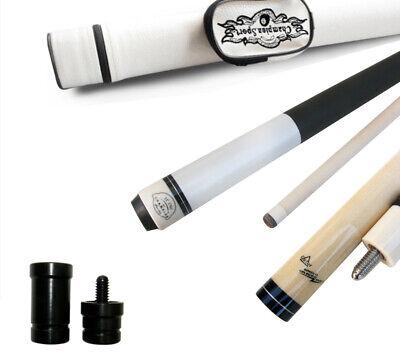 Champion Glove Champion ST6 White Pool Cue Stick-11.75mm Tip,Black Pool case