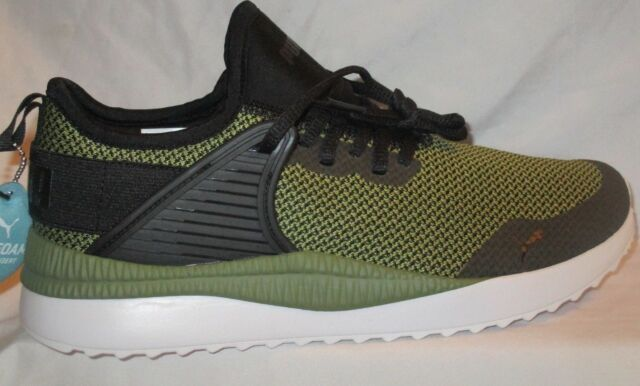 f49e68b87a29ff Men s PUMA Pacer Next Cage GK SNEAKERS Green BLK Mesh Running Shoes ...