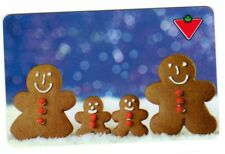 Canadian Tire Gift card gingerbread man family collectible 0$ balance Unloadable