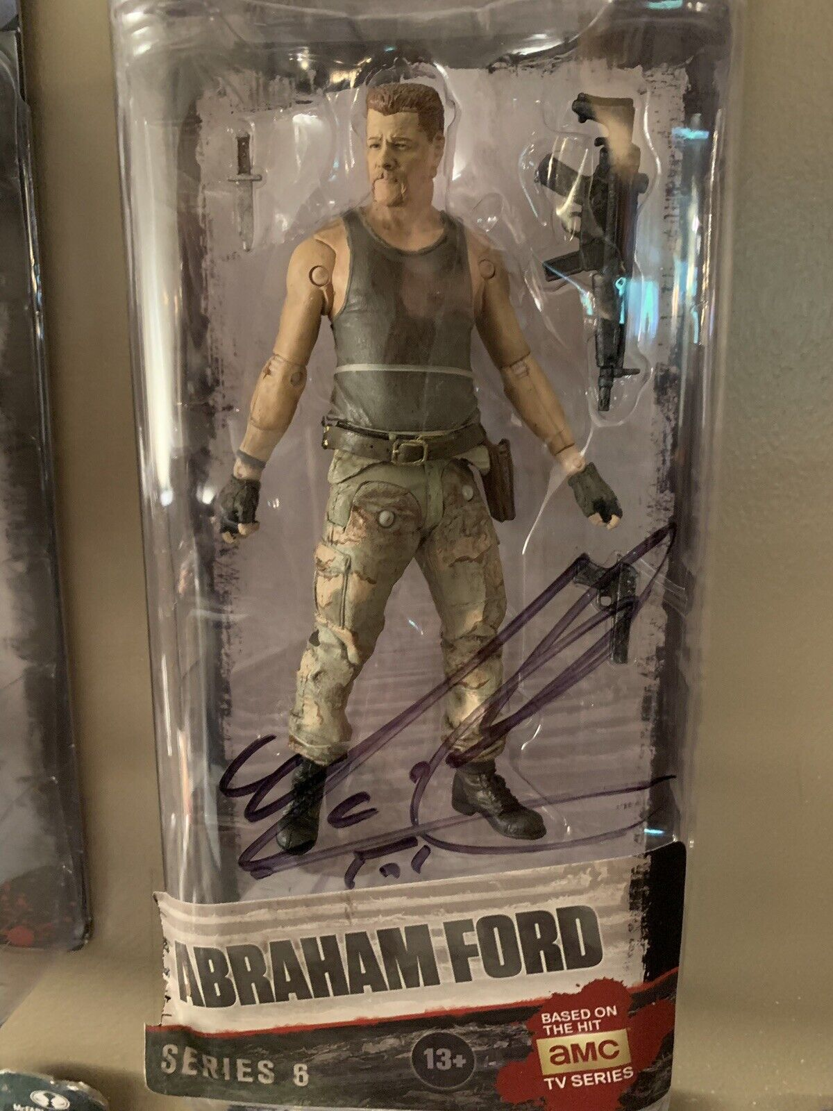 AMC The Walking dead Abraham Action Figure Signed Autographed by Michael Cudlitz