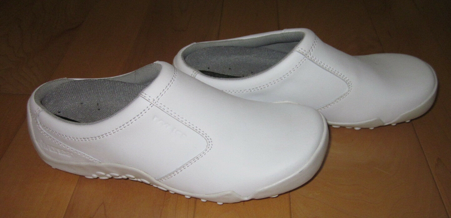 Bates Womens White Occupational Slides shoes 5.5   6  Ex Cond