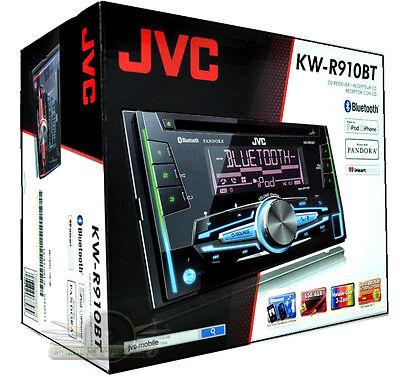 JVC KW-R910BT Double-Din Bluetooth/CD/MP3/USB/AUX /FM New Car Stereo KWR910BT