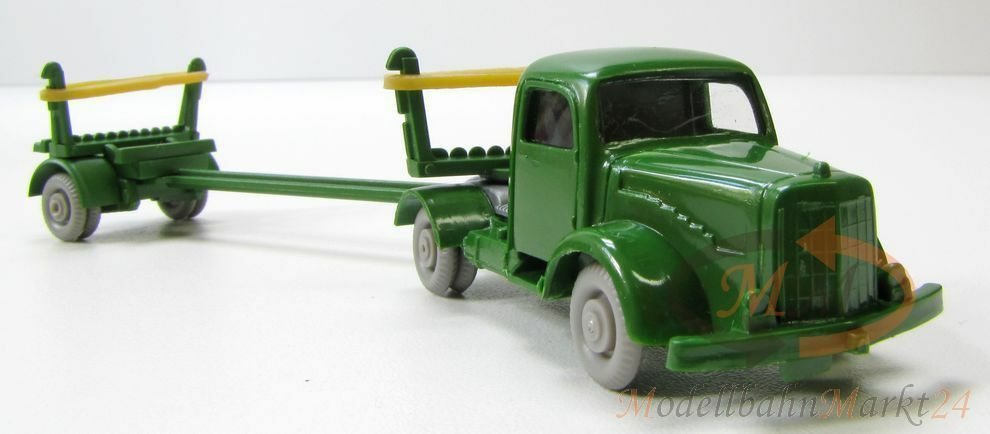 IMU Replica MB 5000 Long Wood Transporter without Cargo Green h0 1 87 - Bearing Fund