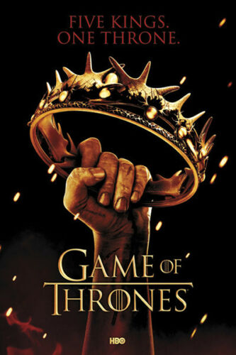 Game of Thrones Crown Poster Five Kings One Throne Song of Ice and Fire New