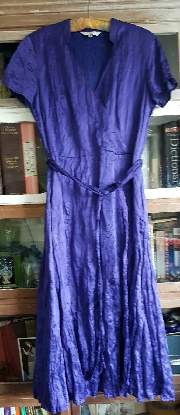 East bluee  silk cotton wrap style  dress 12
