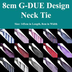 Mens-G-DUE-Handmade-Business-Necktie-Stripe-Texture-Corporate-Formal-Dress-Ties