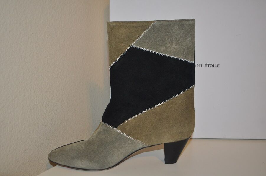 New in in in Box Isabel Marant Etoile Dexton Patch Velvet chaussons démarrage noir taupe 36 - 6 98f4c1