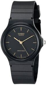 Casio-Men-039-s-Analog-Quartz-Black-Resin-Watch-MQ24-1E