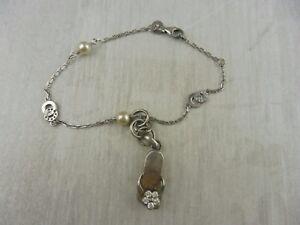 Ancien-petit-bracelet-vintage-en-argent
