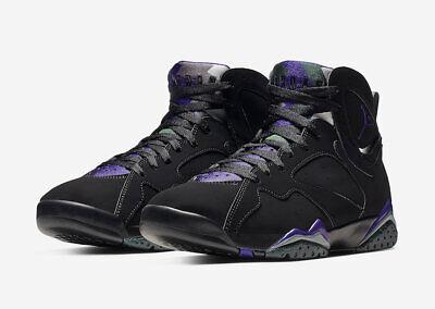 super popular 0d764 0e89f Nike Air Jordan Retro VII 7 PE Ray Allen Black Fierce Purple Green  304775-053   eBay