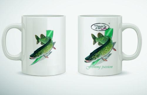 Kaffeebecher YORK /'/'Fishing Passion/'/' Becher Porzellan Tasse Geschenk für Angler