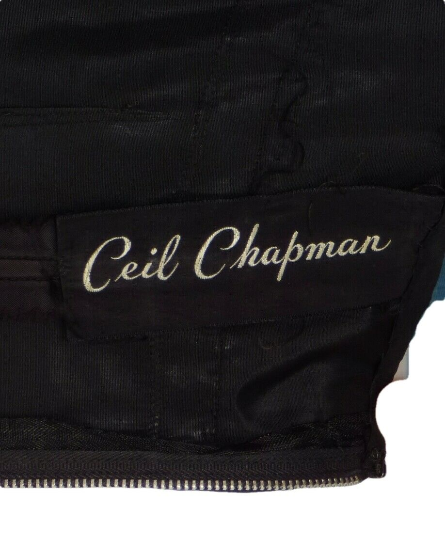 CEIL CHAPMAN-1950s Black Silk Organza Cocktail Dr… - image 7